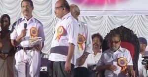 ശ്രീരാഗ സന്ധ്യയിൽ എം.കെ.അർജുനന് ആദരം