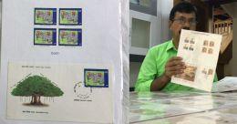 ശിശുദിന സ്റ്റാമ്പുകളുടെ ശേഖരവുമായി കുഞ്ഞബ്ദുല്ല മാഷ്; കൗതുകക്കാഴ്ച