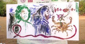 ഇത് പ്രതിരോധത്തിന്റെ ചായം; കാൻസർ ബോധവത്കരണവുമായി കലാകാരന്മാർ