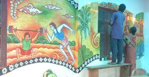 ചുവര്ചിത്രങ്ങൾ നിറഞ്ഞ് പത്തനംതിട്ട ജില്ലാ സ്പോട്സ് കൗണ്സില് ഓഫീസ്