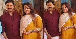 നീലേശ്വരം മന്ദംപുറത്ത് കാവിൽ ഉഷാപൂജ തൊഴുത് ദിലീപും കാവ്യയും
