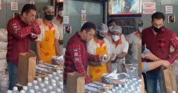 കോവിഡ് പോരാട്ടം; 5,000 ഭക്ഷണ പൊതികളുമായി തെരുവിൽ സൽമാനും; വിഡിയോ