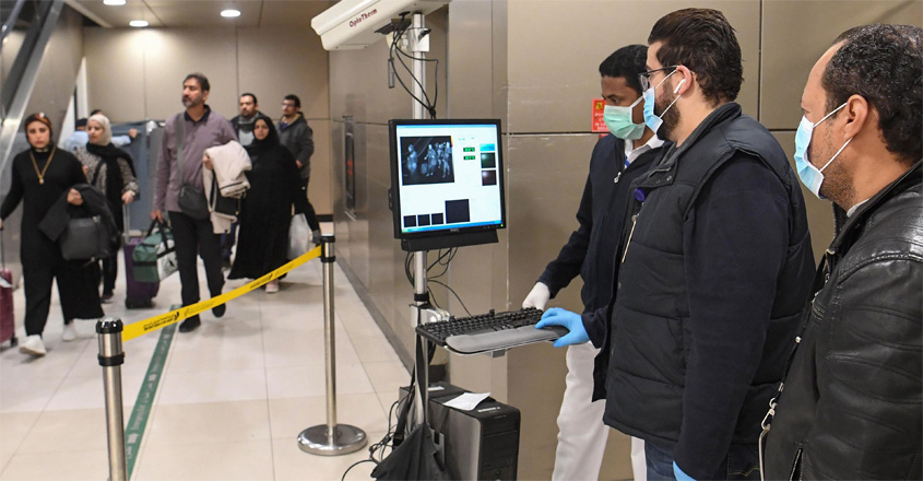 Temperature-scanners-are-used-to-screen-passengers