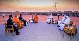 അബുദാബിയിൽ ഹൈന്ദവ ക്ഷേത്രം; നിർമാണം വിലയിരുത്തി യുഎഇ മന്ത്രി