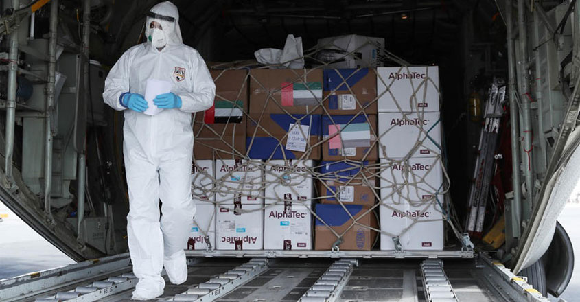 32-tonnes-of-medical-supplies-shipped-uae-to-help-iran