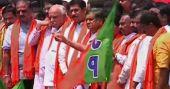 യെഡിയൂരപ്പയുടെ മകന് വിജയേന്ദ്രക്ക് സീറ്റ് നൽകാത്തതിനെതിരെ വന് പ്രതിഷേധം