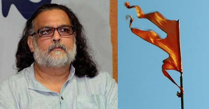 tushar-gandhi-rss-flag