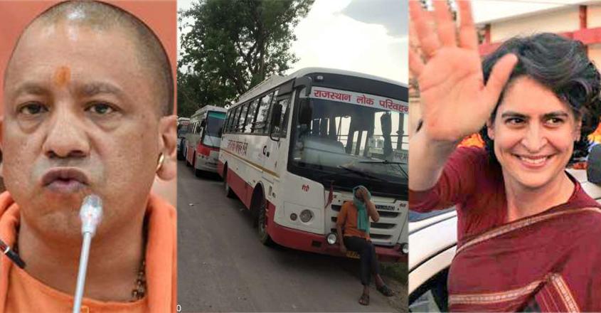 yogi-priyanka-bus