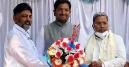 ബിജെപി എംപിയുടെ മകനും എംഎൽഎയുമായ ശരത്കുമാർ ബച്ചെഗൗഡ കോൺഗ്രസിൽ
