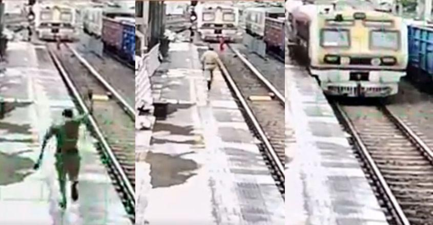 train-police-save-lady
