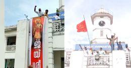 'ജയ്ശ്രീറാം': ആര് വച്ചെന്ന് അറിയില്ലെന്ന് ബിജെപി; കേസെടുക്കണമെന്ന് ആവശ്യം