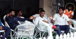 ഇന്ത്യൻ ക്രിക്കറ്റ് ടീമിന്റെ ഡ്രസിങ് റൂമിൽ കണ്ട അജ്ഞാതൻ ചില്ലറക്കാരനല്ല