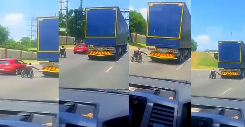 lorry-wheelchair-race