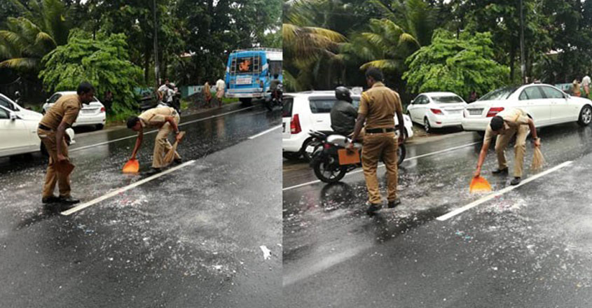 police-road-cleaning