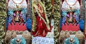 1,11,11,111 രൂപയുടെ നോട്ടുകൾ കൊണ്ട് ദേവീ വിഗ്രഹം അലങ്കരിച്ചു