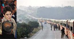 'തീവണ്ടിയല്ല, പ്രിയങ്ക ഒരുക്കിയ 1000 ബസുകൾ'; പ്രചരിക്കുന്ന ചിത്രം വ്യാജം; സത്യം ഇങ്ങനെ