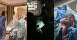 പ്രസവത്തിന് തൊട്ടുമുൻപ് സ്ഫോടനം; മൊബൈൽ വെളിച്ചത്തിൽ പിറവി; അപൂർവ്വം