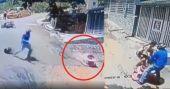 വാക്കറിൽ അതിവേഗം ഉരുണ്ട് കുഞ്ഞ്; രക്ഷകനായി ബൈക്ക് യാത്രികൻ: വിഡിയോ