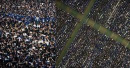 വുഹാനിൽ 11,000 വിദ്യാർഥികളുടെ ബിരുദ ദാനം; മാസ്കില്ല; എങ്ങും ആഘോഷം