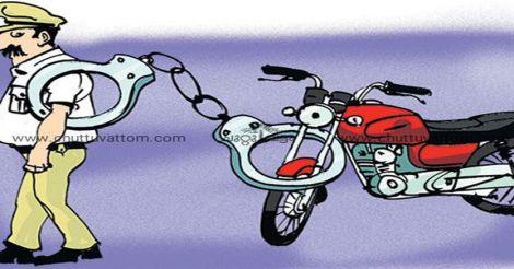 kollam-police-bike